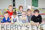 Making Memories Ryan Costello, Ben Downes, Dillon O'Connell, Liam Purtov, Adam Spring, Sean Begley and Tommy Connor, writing their thoughts of school on rocks  at the St Josephs NS anniversary celebration  family fun day on Sunday