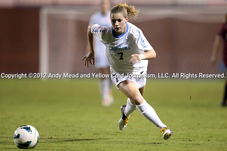 04 October 2012: UNC's Kealia Ohai. The University of North Carolina Tar Heels defeated the Boston College Eagles 1-0 at Fetzer Field in Chapel Hill, North Carolina in a 2012 NCAA Division I Women's Soccer game.