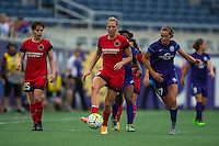 Orlando, FL - Sunday June 26, 2016: Allie Long, Dani Weatherholt  during a regular season National Women's Soccer League (NWSL) match between the Orlando Pride and the Portland Thorns FC at Camping World Stadium.