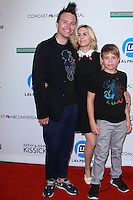 UNIVERSAL CITY, CA, USA - SEPTEMBER 30: Mark Hoppus, Skye Everly, Jack Hoppus arrive at LA's Promise Gala 2014 held at the Globe Theatre at Universal Studios on September 30, 2014 in Universal City, California, United States. (Photo by David Acosta/Celebrity Monitor)
