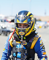 Jul 30, 2016; Sonoma, CA, USA; NHRA top fuel driver Leah Pritchett during qualifying for the Sonoma Nationals at Sonoma Raceway. Mandatory Credit: Mark J. Rebilas-USA TODAY Sports