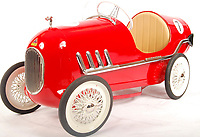 BNPS.co.uk (01202 558833)<br /> Pic: EastBristolAuctions/BNPS<br /> <br /> £2000 - An original vintage Tri-ang made Racer child's pedal car. <br />   <br /> Toy story...<br /> <br /> A remarkable lifetime collection of 30 vintage toy cars has emerged for sale for more than £65,000.<br /> <br /> The fleet of rare pedal cars were acquired over almost half a century by retired car garage owner David Worrow, 72.<br /> <br /> During their time with Mr Worrow they formed what was believed to be the biggest private collection of its kind in the world.