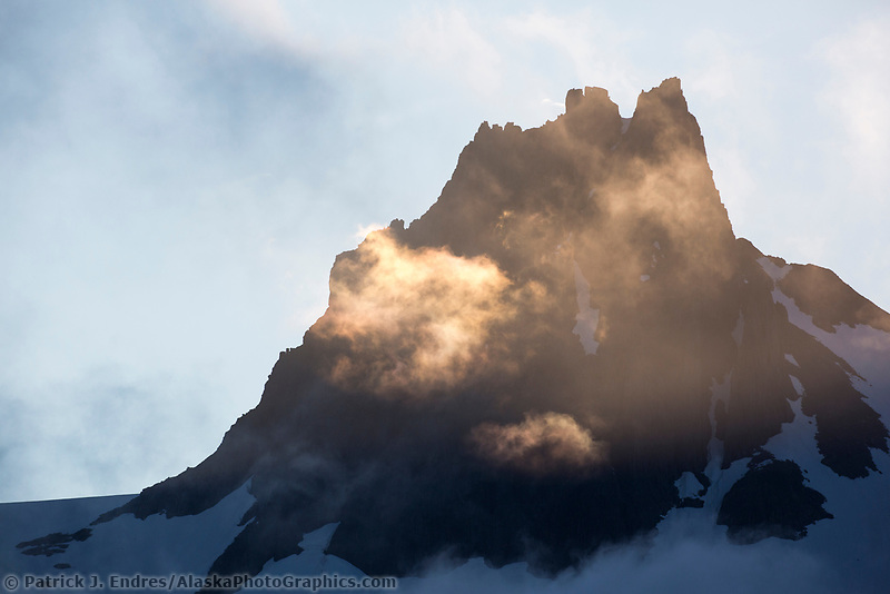 Clouds over the Aleutian mountains in Katmai National Park, Alaska Peninsula, southwest Alaska.