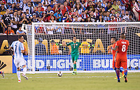 East Rutherford, NJ - June 25, 2016: Chile won the Copa America Centenario 4-2 on penalty kicks after tying the game 0-0 in extra time at MetLife Stadium.
