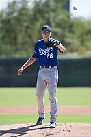 Kansas City Royals starting pitcher Zach Haake (26) waits to receive the ball back from the catcher during an Instructional League game against the Chicago White Sox at Camelback Ranch on September 25, 2018 in Glendale, Arizona. (Zachary Lucy/Four Seam Images)