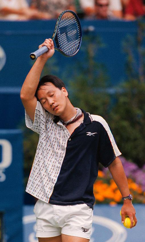 Photo. Abbey Wells.Austrailan Open, Melbourne, Austraila. 1996.Michael Chang.