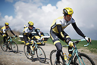 Sep Vanmarcke (BEL/LottoNL-Jumbo) & teammates during recon of the 114th Paris - Roubaix 2016