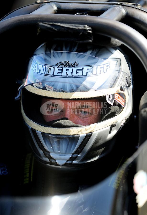 Jul. 17, 2010; Sonoma, CA, USA; NHRA top fuel dragster driver Bob Vandergriff Jr during qualifying for the Fram Autolite Nationals at Infineon Raceway. Mandatory Credit: Mark J. Rebilas-