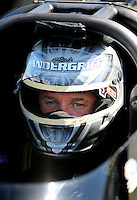 Jul. 17, 2010; Sonoma, CA, USA; NHRA top fuel dragster driver Bob Vandergriff Jr during qualifying for the Fram Autolite Nationals at Infineon Raceway. Mandatory Credit: Mark J. Rebilas-