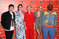 LONDON, UK. June 06, 2019: Danny Jones, Jessie J, Emma Willis, Pixie Lott & Will.i.Am at The Voice Kids UK 2019 photocall, London.<br /> Picture: Steve Vas/Featureflash