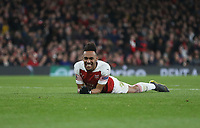 Arsenal's Pierre-Emerick Aubameyang<br /> <br /> Photographer Rob Newell/CameraSport<br /> <br /> Football - UEFA Europa League Round of 16 Leg 2 - Arsenal v Rennes - Thursday 14th March 2019 - The Emirates - London<br />  <br /> World Copyright © 2018 CameraSport. All rights reserved. 43 Linden Ave. Countesthorpe. Leicester. England. LE8 5PG - Tel: +44 (0) 116 277 4147 - admin@camerasport.com - www.camerasport.com