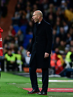 Real Madrid's coach Zinedine Zidane  and UD Las Palmas'  during La Liga match. November 5,2017. (ALTERPHOTOS/Inma Garcia)
