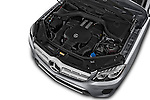 Car Stock 2017 Mercedes Benz GLS-Class GLS450 5 Door SUV Engine  high angle detail view