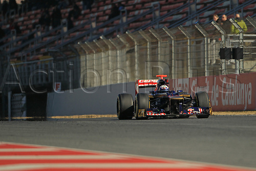 22.02.2012 Barcelona Spain. Formula One testing, day 2.Daniel Ricciardo on track in the Scuderia Toro Rosso.