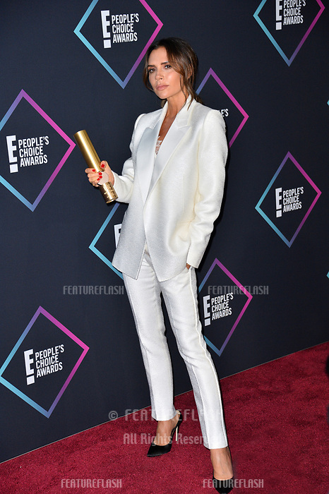 LOS ANGELES, CA. November 11, 2018: Victoria Beckham at the E! People's Choice Awards 2018 at Barker Hangar, Santa Monica Airport.<br /> Picture: Paul Smith/Featureflash
