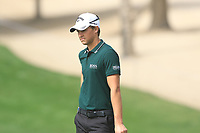 Thomas Detry (BEL) on the 3rd during Round 1 of the Omega Dubai Desert Classic, Emirates Golf Club, Dubai,  United Arab Emirates. 24/01/2019<br /> Picture: Golffile | Thos Caffrey<br /> <br /> <br /> All photo usage must carry mandatory copyright credit (&copy; Golffile | Thos Caffrey)