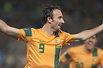 2014 FIFA World Cup Brazil Asian Qualifiers (Final Round) Australia v Iraq at Stadium Australia. Socceroos  Josh Kennedy celebrates  scoring the winning goal that put Australia in to the World Cup Brazil.  Sydney, Australia, Tuesday, June 18th, 2013. Photo: (Steve Christo)