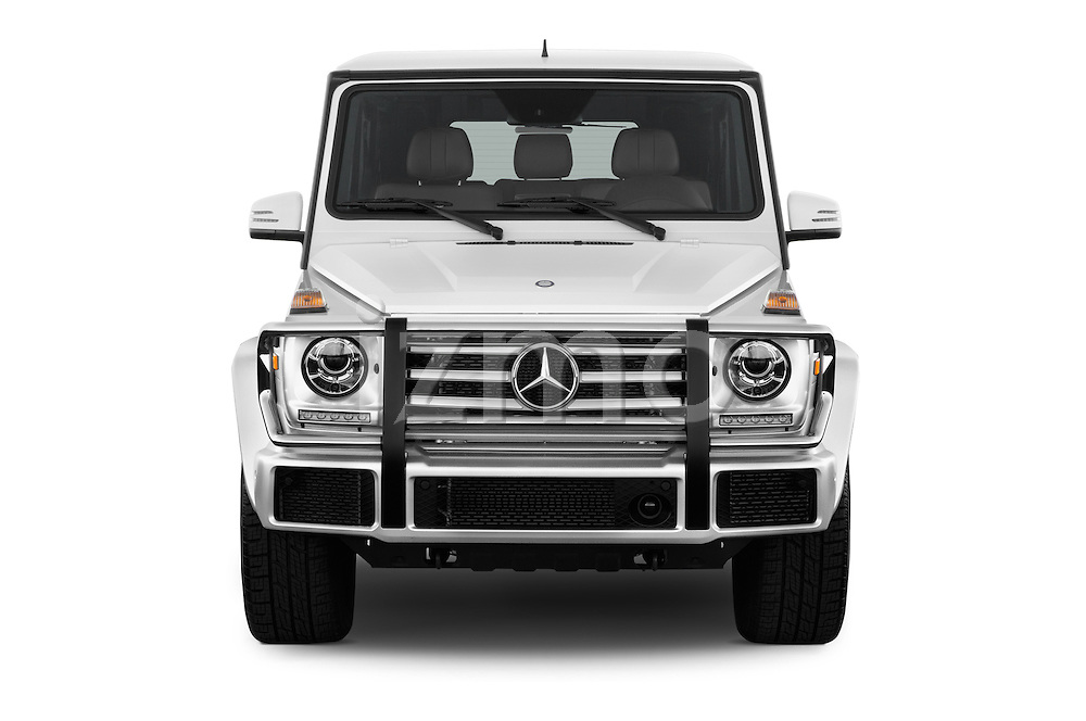 Car photography straight front view of a 2016 Mercedes Benz G-Class G550 5 Door SUV Front View