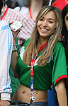 24 June 2006: A Mexico fan. Argentina (1st place in Group C) defeated Mexico (2nd place in Group D) 2-1 after extra time at the Zentralstadion in Leipzig, Germany in match 50, a Round of 16 game, in the 2006 FIFA World Cup.
