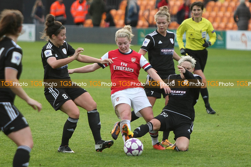 Kim Little of Arsenal Ladies evades challenges - Arsenal Ladies vs Glasgow City LFC - UEFA Womens Champions League Round of 16 First Leg Football at the Hive Stadium, Barnet FC, London - 09/11/13 - MANDATORY CREDIT: George Phillipou/TGSPHOTO - Self billing applies where appropriate - 0845 094 6026 - contact@tgsphoto.co.uk - NO UNPAID USE