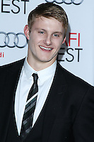 "HOLLYWOOD, CA - NOVEMBER 12: Alexander Ludwig at the AFI FEST 2013 - ""Lone Survivor"" Premiere held at TCL Chinese Theatre on November 12, 2013 in Hollywood, California. (Photo by David Acosta/Celebrity Monitor)"