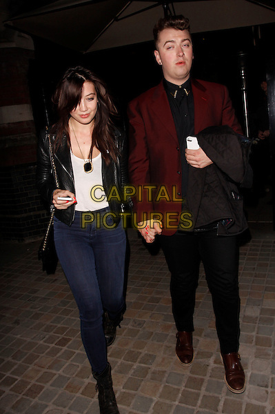 LONDON, ENGLAND - MAY 15 :  Daisy Lowe and friend leaving The Chiltern Firehouse club on May 15, 2014 in London, England.<br /> CAP/AH<br /> &copy;Adam Houghton/Capital Pictures