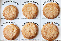 Speciality French patisserie macaroon biscuits, Macarons de St Emilion, regional speciality food from St Emilion, France