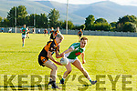 Ferdia O'Brien, Stacks and Andrew Barry for the home side Na Gaeil, in action last Saturday evening in Tralee.