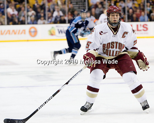 Matt Price (BC - 25) - The Boston College Eagles defeated the University of Maine Black Bears 7-6 in overtime to win the Hockey East championship on Saturday, March 20, 2010, at TD Garden in Boston, Massachusetts.
