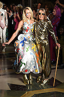 Alice Dellal and Anita Pallenberg<br /> at the Pam Hogg catwalk show as part of London Fashion Week SS17, Freemason's Hall, Covent Garden, London<br /> <br /> <br /> &copy;Ash Knotek  D3155  16/09/2016