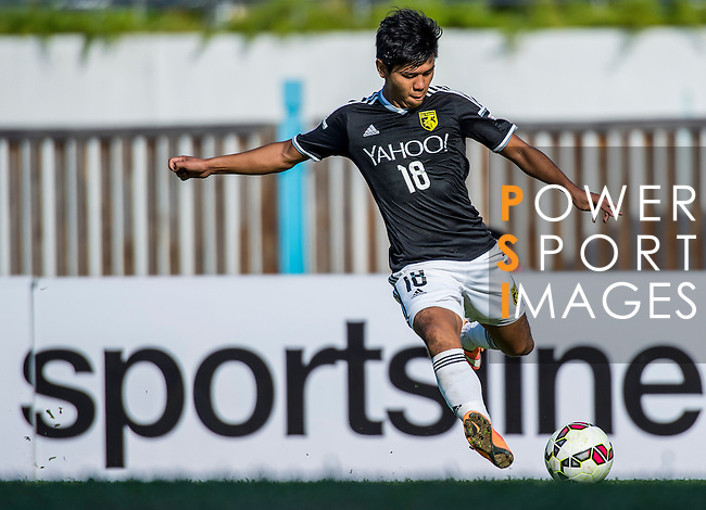 Kwok Keung Sham of Sun Pegasus FC in action during the HKFA Premier League between Wofoo Tai Po vs Sun Pegasus at the Tai Po Sports Ground on 22 November 2014 in Hong Kong, China. Photo by Aitor Alcalde / Power Sport Images