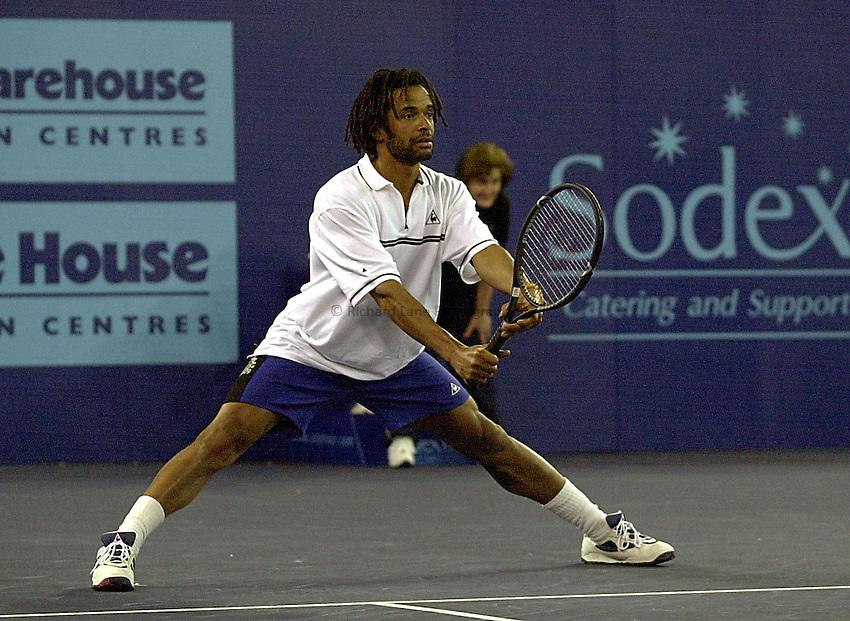 Photo:Ken Brown.20.2.2000 York Tennis Challenge.Yannick Noah