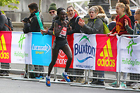 Mary Keitany of Kenya wins the elite womens class at the London Marathon, shown here at 40k mark, during the 2017 Virgin Money London Marathon at London, England on 23 April 2017. Photo by Steve McCarthy/PRiME Media Images