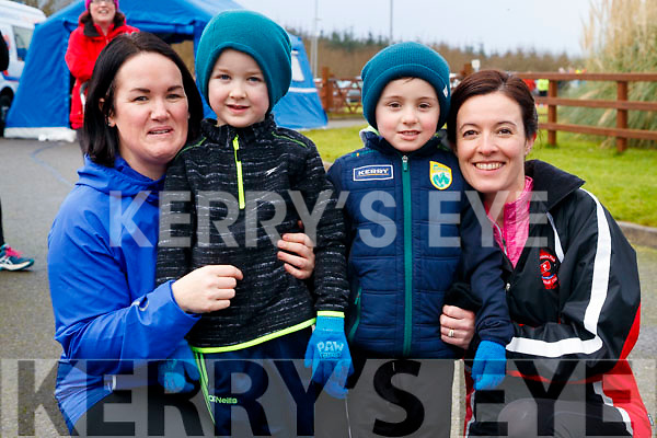 Niamh Daffy, Gerry McDonnell with Conor and Joyce McCannon, Tralee, pictured at the Operation Transformation Walk at Tralee Bay Wetlands on Saturday morning last.