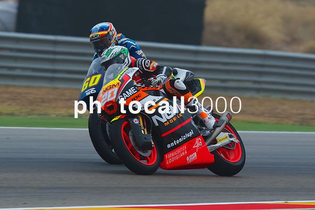 Gran Premio Movistar de Aragón<br /> during the moto world championship in Motorland Circuit, Aragón<br /> Race Moto2<br /> marino<br /> simon<br /> PHOTOCALL3000