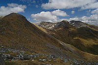 An Gearanach and An Garbhanach from beneath Am Bodach, The Mamores, Lochaber