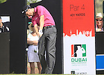 Ross Fisher tees off on the 11th hole during  Day 3 at the Dubai World Championship Golf in Jumeirah, Earth Course, Golf Estates, Dubai  UAE, 21st November 2009 (Photo by Eoin Clarke/GOLFFILE)