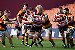 Steelers Captain Jamie Chipman makes a rare charge upfield. ITM Cup rugby game between Waikato and Counties Manukau, played at Waikato Stadium, Hamilton on Saturday 28th August 2010..Waikato won 39 - 3.