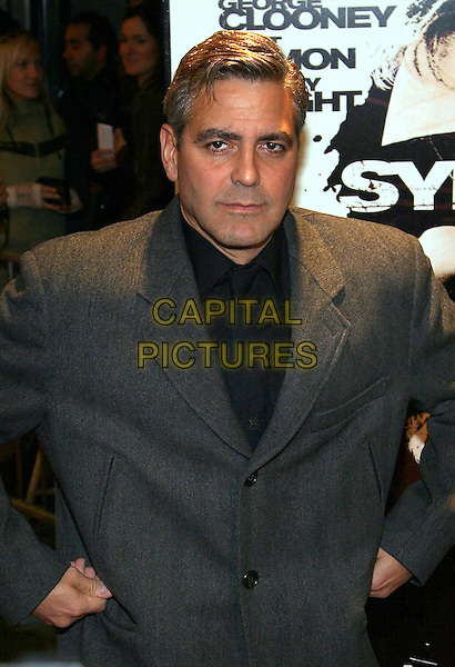 """GEORGE CLOONEY.""""Syriana"""" world premiere at Lowes Lincoln Square Theatre, New York, NY.  .November 20th, 2005.Photo: Jackson Lee/Admedia/Capital Pictures.Ref: JL/ADM.half length hands on hips.www.capitalpictures.com.sales@capitalpictures.com.© Capital Pictures."""