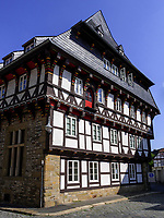 Fachwerkhaus Bergstr. 60, Goslar, Niedersachsen, Deutschland, Europa, UNESCO-Weltkulturerbe<br /> Halftimbered house Berg St. 60, Goslar, Lower Saxony,, Germany, Europe, UNESCO Heritage Site