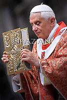 Pope Benedict XVI celebrates the Pentecost Mass in St. Peter's Basilica at the Vatican on  June 12, 2011