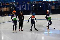 SCHAATSEN: HEERENVEEN: 10-10-2018, IJsstadion Thialf, G Schaatsers Shorttrack met Sjinkie en Suzanne, ©foto Martin de Jong