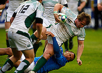 Photo: Richard Lane/Richard Lane Photography. Ireland U20 v Italy U20. Semi Final. 18/06/2008. Ireland's Jason Harris-Wright attacks.