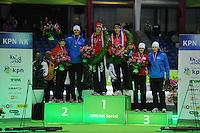 SCHAATSEN: HEERENVEEN: Thialf, KPN NK Sprint, 30-12-11, Thijsje Oenema, Hein Otterspeer, Margot Boer, Stefan Groothuis, Marrit Leenstra, Sjoerd de Vries, ©foto: Martin de Jong.