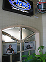 Arai Helmet Ltd. Headquaters entrance with Alain Prost's autographed dedication.