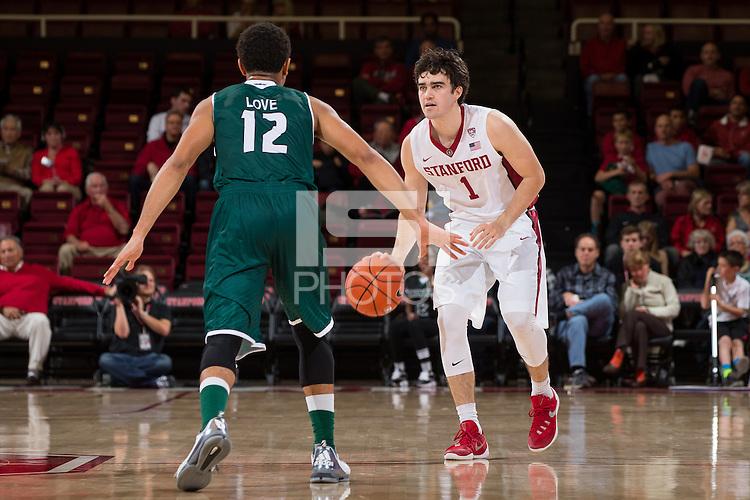 Stanford, CA - November 13, 2015: Stanford Men's Basketball vs Wisconsin-Green Bay. Final score Stanford 93   Wisconsin 89.