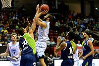GRONINGEN - Basketbal, Donar - ZZ Leiden, Supersup, seizoen 2018-2019, 06-10-2018,  Donar speler Shane Hammink op weg naar een score