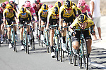 Tony Martin (GER) and Team Jumbo-Visma on the front of the peloton in action during Stage 2 of La Vuelta 2019 running 199.6km from Benidorm to Calpe, Spain. 25th August 2019.<br /> Picture: Luis Angel Gomez/Photogomezsport | Cyclefile<br /> <br /> All photos usage must carry mandatory copyright credit (© Cyclefile | Luis Angel Gomez/Photogomezsport)