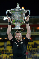 All Blacks' Kieran Read. All Blacks v Wallabies. The Rugby Championship &amp; Bledisloe Cup at Westpac Stadium, Wellington, New Zealand on Saturday 27 August 2016.<br /> Photo by Masanori Udagawa. <br /> www.photowellington.photoshelter.com.