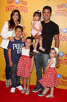 Courtney Mazza and Mario Lopez with daughter Gia Francesca Lopez at the opening night of Ringling Bros. &amp; Barnum &amp; Bailey's 'Dragons' held at Staples Center on July 12, 2012 in Los Angeles, California. &copy;&nbsp;mpi27/MediaPunch Inc /*NORTEPHOTO*<br />